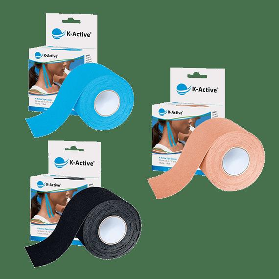 pack vendas k-active 3 rollos de varios colores a elegir