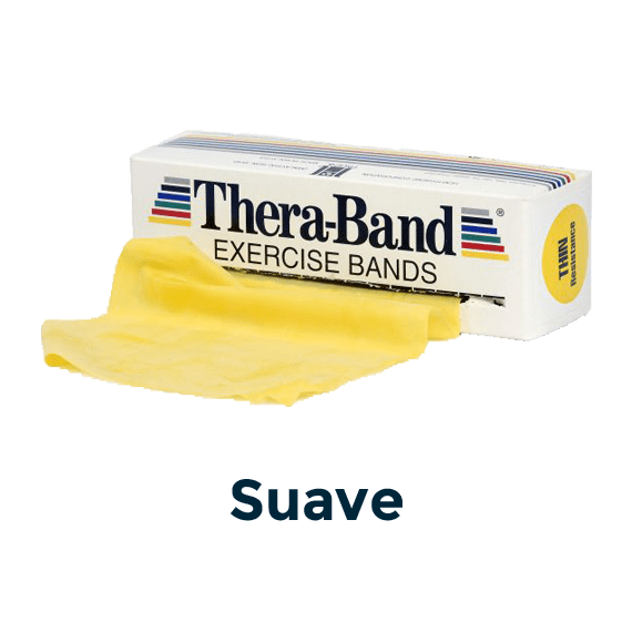 cinta elástica 5,5 m amarilla theraband