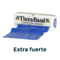 cinta elástica azul extra fuerte theraband
