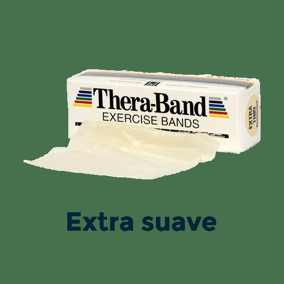 cinta elástica 5,5m beige theraband