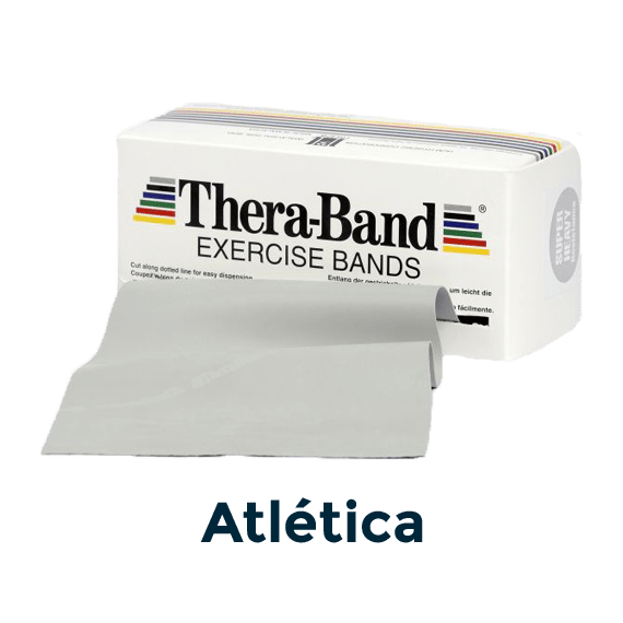 cinta elástica gris atlética 5,5m theraband