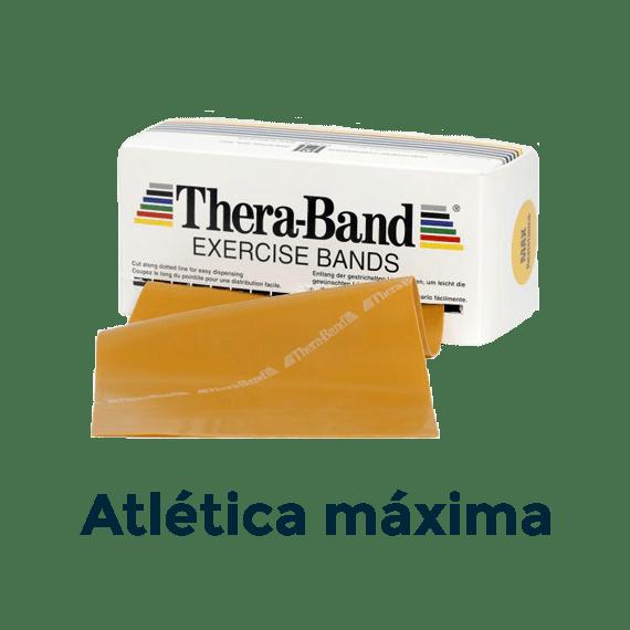 cinta elástica 5,5m oro atlética theraband